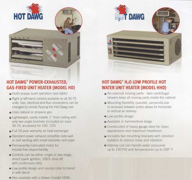 Hot Dawg Garage Heaters W J Barnes Ltd Sarnia Ontario